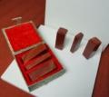 寿山红三方套装-小